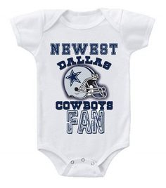 27034c93a NEW Football Baby Bodysuits Creeper NFL Dallas Cowboys  2