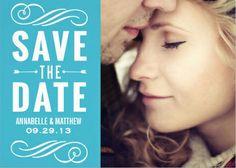 Custom save-the-date wedding invitations.
