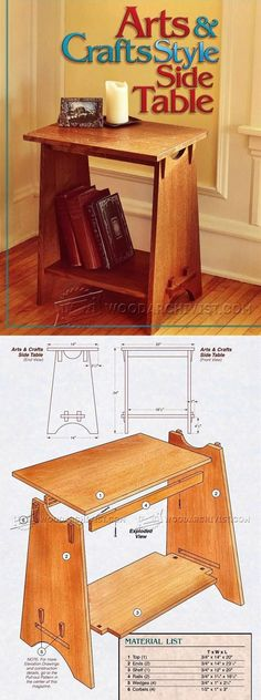 Art and Crafts Style Side Table Plans - Furniture Plans and Projects  | WoodArchivist.com