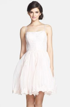 So pretty! Ted Baker London 'Raul' Embroidered Lace Fit & Flare Dress | Nordstrom