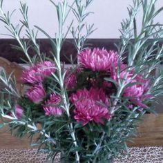 Cvjetni aranžman od živoga cvijeća u vazi na stolu