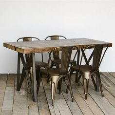 "Urban Wood Goods Monarch Dining Table Top Finish: Espresso, Size: 30"" H x 42"" W x 108"" L"