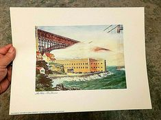 "Floyd Hildebrand Print FORT POINT SAN FRANCISCO 11.5 x 15"" Cal. Savings & Loan #ContemporaryArt Print, Artwork Display, Francisco, San Francisco Artwork, San Francisco Art, Floyd, Artwork, Contemporary Art"
