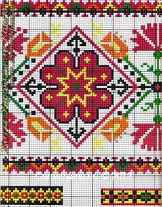 Cross Stitch Kit, Colorful Tree DIY Needlework Handmade Embroidery Home Room Decor - Embroidery Design Guide Cross Stitch Borders, Cross Stitch Charts, Cross Stitch Designs, Cross Stitching, Folk Embroidery, Embroidery Patterns Free, Cross Stitch Embroidery, Bead Loom Patterns, Cross Stitch Patterns