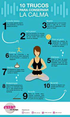 10 trucos para conservar la calma. #estrés #infografía