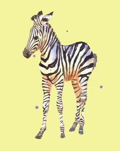My sweet innocent zebra on lemon will bring the safari look to your nursery:)