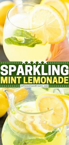 Kids love this fun spring drink! Packed with mint flavor and bubbles, a delicious sip of this quick and easy lemonade is what you need on a warm day. Make a big pitcher of this recipe for everyone to enjoy! Spike it with vodka to have a refreshing cocktail for adults! Refreshing Cocktails, Fun Cocktails, Summer Drinks, Fun Drinks, Cocktail Recipes, Drink Recipes, Smoothie Recipes, Beverages, Smoothies