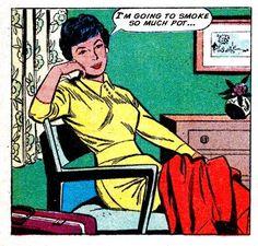 "Comics for potheads - ""I'm going to smoke so much pot. Vintage Pop Art, Vintage Comic Books, Vintage Cartoon, Vintage Comics, Comic Books Art, Comic Art, Retro Vintage, Arte Pop, Comic Kunst"