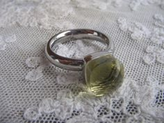 Die Zaubernasen - Qudo Ring FIRENZE Edelstahl - lemon