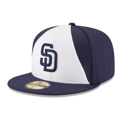 Men's San Diego Padres New Era White/Navy Game Diamond Era 59FIFTY Fitted Hat
