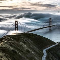 Golden Gate Bridge from the Marin Headlands (Bruce Getty).