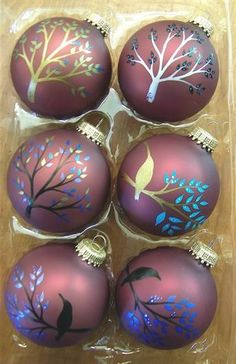 Hand Painted Tree Ornaments
