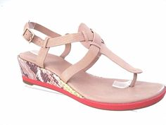 COLE HAAN Sand Leather Lemon Snake Print PALEY Mid-Wedge Sandals Size 9 B #ColeHaan #PlatformsWedges