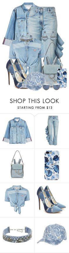 """Summer Denim On Denim Style"" by nosleeptilbrooklyn ❤ liked on Polyvore featuring Frame, Citizens of Humanity, Chloé, GUESS, Mignonne Gavigan, Billabong, Christian Dior, summerstyle, Denimondenim and HowToWear"