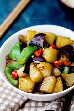 Di San Xian- Three treasure of China: potato, eggplant and green pepper