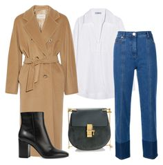 """""""coat goes erytime"""" by mariecolic ❤ liked on Polyvore featuring Prada, MaxMara, Chloé, Gianvito Rossi and Valentino"""