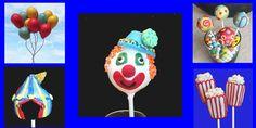 carnival Themed cake pops cakepopsbymaggie.etsy.com