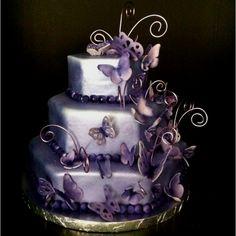 Beautiful Butterfly Birthday cake