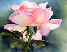 Watercolor peace rose - WetCanvas