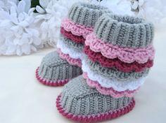 Crochet P A T T E R N tricot bébé chaussons tricoté par Solnishko43