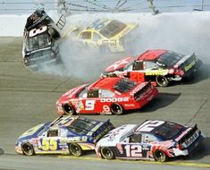 The crash that killed the greatest NASCAR driver in 2001. The final lap of the Daytona 500.