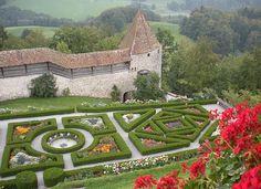 Castle Of Gruyeres Switzerland by Marilyn Dunlap