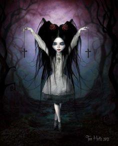 Goth Girl Cartoons - Toon Hertz Illustrates Cutesy Females with Dark & Emotional Sides (GALLERY)