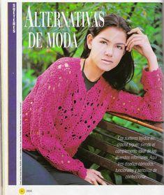 butterflycreaciones / fanaticadel tejido: revista croché 7 Sari, Album, Fashion, Templates, Casual Looks, African Flowers, Journals, Photos, Tejidos