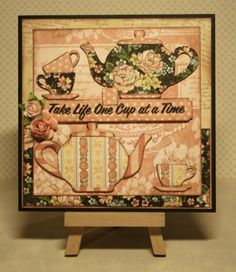 """Love this """"Coffee Card"""" from @Miranda Boels using A Ladies' Diary! #graphic45 #cards"""