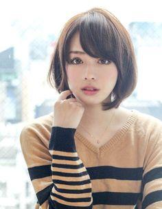 ナチュラル小顔ショートボブ EN-171 | ヘアカタログ・髪型・ヘアスタイル|AFLOAT(アフロート)表参道・銀座・名古屋の美容室・美容院 Japanese Beauty, Asian Beauty, Japanese Girl, Prity Girl, Cute Haircuts, Hair Arrange, Face Hair, Hair Today, Messy Hairstyles