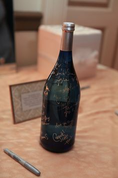 Sign-able Wine Bottle For Memories | Pauleenanne Design | 13 One Photography