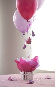Butterfly Birthday Party Decorations, Butterfly Bridal Shower Centerpieces at SetToCelebrate