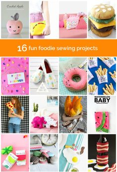 16 sewing DIYs that the food lover in your life will love!