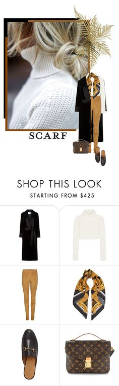 """""""silk scraf"""" by izoche ❤ liked on Polyvore featuring Prada, Racil, Roberto Cavalli, STOULS, Versace, Gucci and Louis Vuitton"""