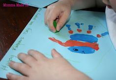 Momma Made it!: Kid Craft! Fathers Day Hand Print Art!