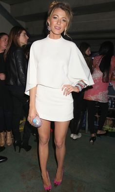 Blake Lively in Gucci dress at Chime For Change concert 2013