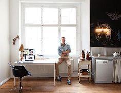 Olaf Hajek (one of my favorite illustrators!) at Home in Berlin