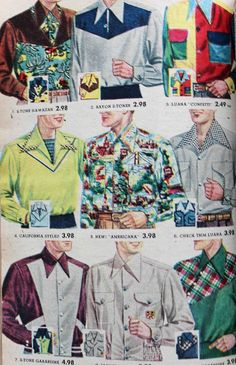 1950s mens western shirts
