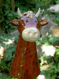 Gartenfiguren - Zaunhocker Kuh Berta - ein Designerstück von ZAUN_KOENIGIN bei DaWanda