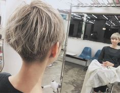 Pin on Short hair Girl Short Hair, Short Hair Cuts, Short Girls, Short Hair Styles, Grow Out, Hair Inspo, Cute Hairstyles, Dyed Hair, Lgbt