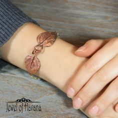 🌿Copper Lantana Leaf Bracelet🌿  🌿Many new leaf bracelets added to the website in both copper and silver. This one is made from lantana leaves 🌿   🌿Check out all the new options in the Into the Woods Collection on the website at http://www.jewelofhavana.com/store/c19/Into_the_Woods_Nature_Jewelry_Collection.html 🌿
