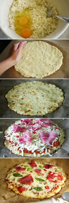 Craving pizza, but trying to reduce your carb intake? This recipe might be a gre… Craving pizza, but trying to reduce your carb intake? This recipe might be a great alternative for you. My family loves this recipe! Healthy Snacks, Healthy Eating, Healthy Recipes, Healthy Pizza, No Carb Recipes, Cooking Recipes, Meal Recipes, Comidas Light, Cauliflower Crust Pizza