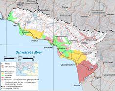 Абхазы, Армяне, Грузины. Этническая карта Абхазии, до и после 2008 года. |