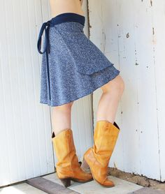 Hemp and Organic Cotton Short Wrap Skirt - Custom Made to Order - Many Colors to Choose From on Etsy, $50.00