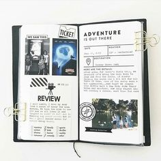 Always a fan of @melissamorrelli's #travelersnotebook! She used the @inacreativebubble Adventure is out there card (from the Explorer prompts set) in her spread here. . . . #inacreativebubble #projectlife #printables #scrapbooking #memorykeeping #pocketpages #hybridscrapbooking #travelersfactory #travelersnote #loveforanalogue