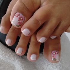 Ideas For Fails Design Summer Gel Red Pedicure Designs, Pedicure Nail Art, Toe Nail Designs, Toe Nail Art, Pretty Toe Nails, Cute Toe Nails, Love Nails, My Nails, Kathy Nails