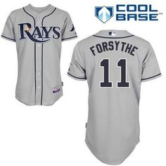 Men's Tampa Bay Rays #11 Logan Forsythe Gray Road Stitched Baseball Jersey