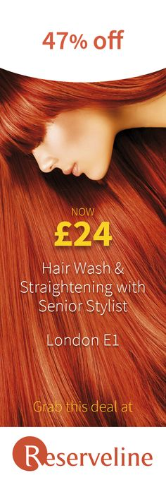 Let your hair be washed and straightened by senior stylist Galina, and save Hair Iron, Straightener, Your Hair, Coupons, Salons, Stylists, Health Fitness, Hair Styles, Beauty