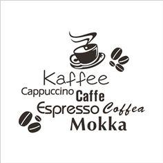 kaffee Cappuccino PVC Plane Wall Stickers Black White 2 Options