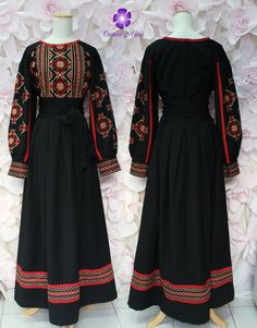 Thob-inspired dresses for wome Kurti Designs Party Wear, Kurta Designs, Blouse Designs, Pakistani Dress Design, Pakistani Dresses, Frock Fashion, Fashion Dresses, Indian Designer Outfits, Designer Dresses
